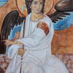Beli Andjeo - Detalj - Umetnička slika 60x40cm Ulje na platnu - umetnik Darko TOPALSKI