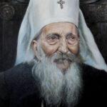 Umetnička slika - Portret - Patrijarh Pavle - 40x30cm-2020.-Ulje na platnu -umetnik Darko Topalski