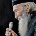 Umetnička slika - Portret - Patrijarh Pavle - 40x30cm-2021.-Ulje na platnu -umetnik Darko Topalski